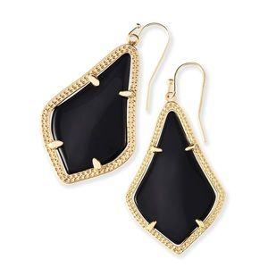 Kendra Scott Alex Gold Drop Earrings In Black